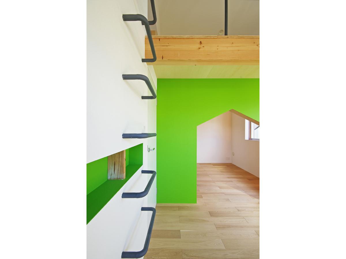 子供部屋黄緑